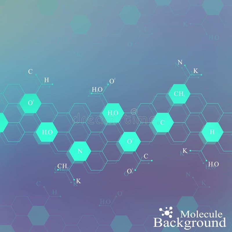 Μόριο DNA στο μπλε υπόβαθρο Γραφικό υπόβαθρο για το σχέδιό σας επίσης corel σύρετε το διάνυσμα απεικόνισης διανυσματική απεικόνιση