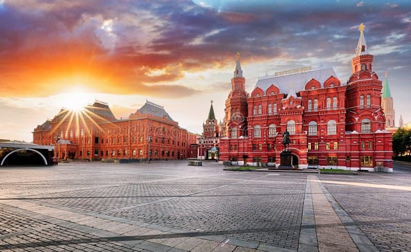 Μόσχα - κρατικό ιστορικό μουσείο στην κόκκινη πλατεία, Ρωσία στοκ εικόνες