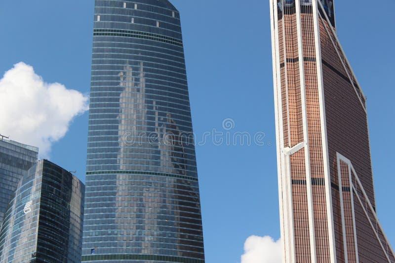 Μόσχα-πόλη εμπορικών κέντρων Ομοσπονδία και υδράργυρος ουρανοξυστών στοκ φωτογραφίες