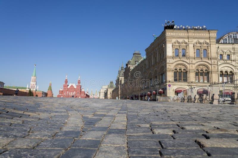 Μόσχα, Ρωσία - 12 Απριλίου 2018 - μη αναγνωρισμένη επίσκεψη φ τουριστών στοκ εικόνα με δικαίωμα ελεύθερης χρήσης