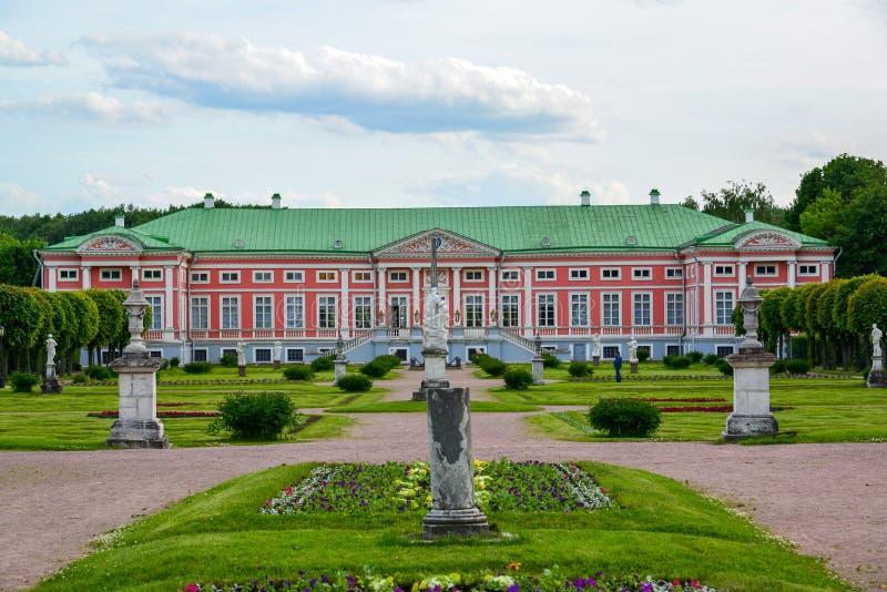 Μόσχα, Ρωσία - 6 Ιουνίου 2016 Κανονικό γαλλικό πάρκο στο κτήμα Kuskovo, το μουσείο στοκ εικόνα