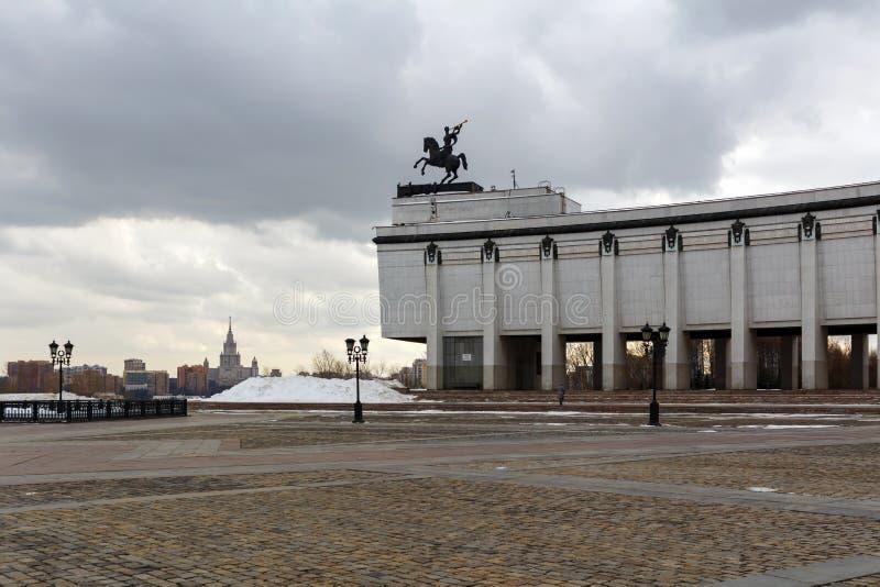 Μόσχα, Ρωσία - 22 Μαρτίου 2018: Κεντρικό μουσείο του μεγάλου πατριωτικού πολέμου του 1941-1945 στο Hill Poklonnaya στη Μόσχα στοκ εικόνες