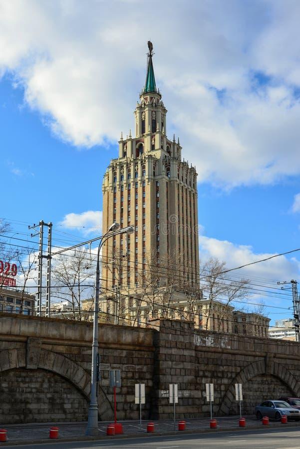 Μόσχα, Ρωσία - 14 Μαρτίου 2016 Ξενοδοχείο Leningradskaya στην πλατεία Komsomolskaya στοκ εικόνα με δικαίωμα ελεύθερης χρήσης
