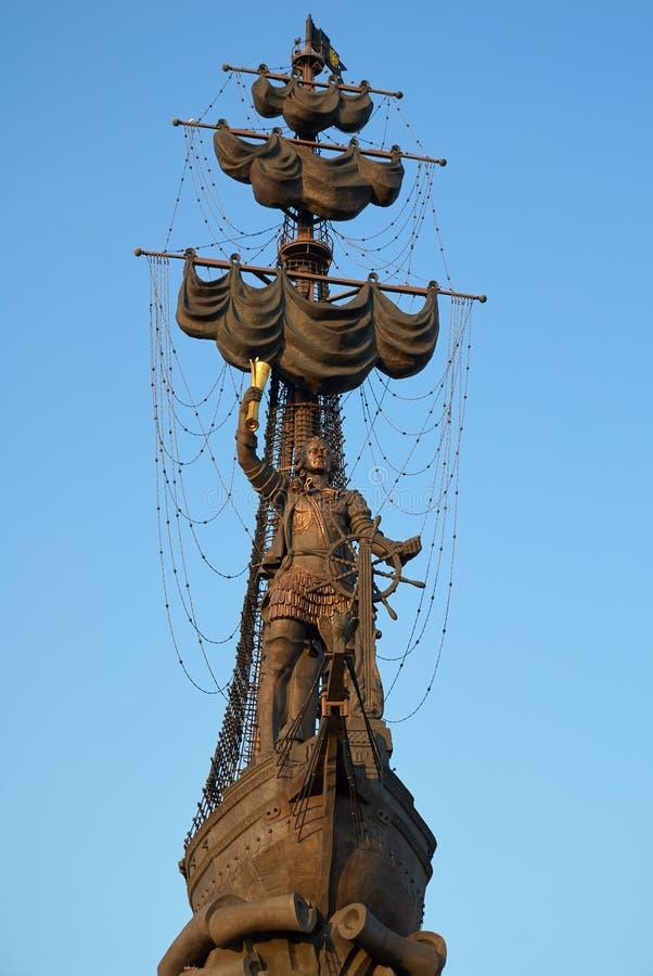 Μόσχα, Ρωσία - 04 Σεπτεμβρίου 2008: Μνημείο για τον ρώσο Τσάρο Πέτρο ο Μέγας στη Μόσχα Ο συγγραφέας Ζουραμπ Τσερετέλι στοκ φωτογραφία