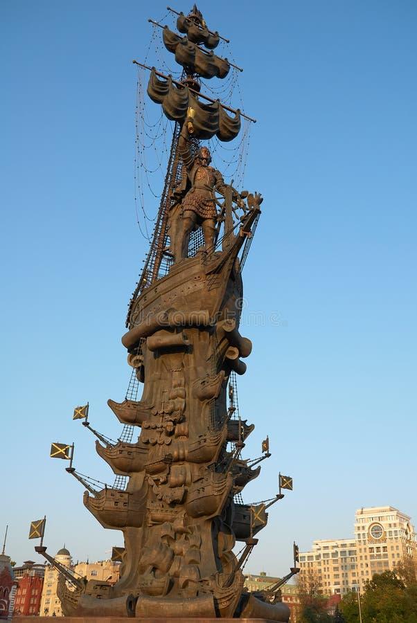 Μόσχα, Ρωσία - 04 Σεπτεμβρίου 2008: Μνημείο για τον ρώσο Τσάρο Πέτρο ο Μέγας στη Μόσχα Ο συγγραφέας Ζουραμπ Τσερετέλι στοκ φωτογραφία με δικαίωμα ελεύθερης χρήσης