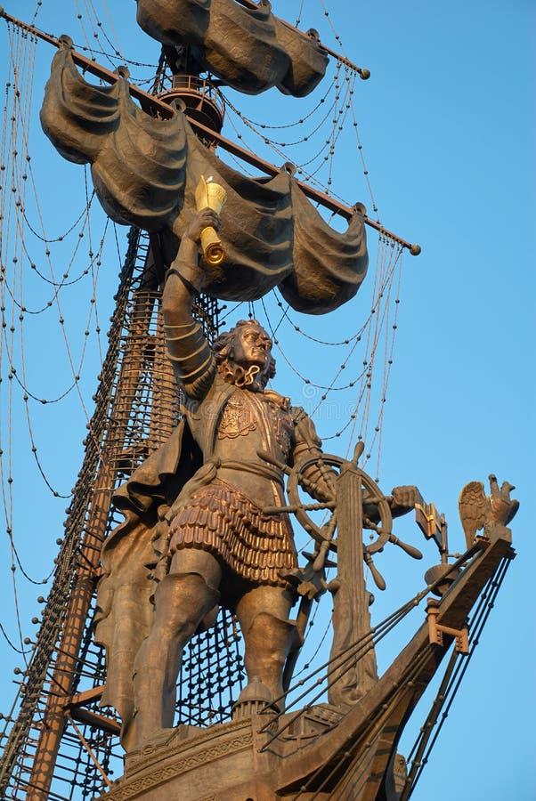 Μόσχα, Ρωσία - 04 Σεπτεμβρίου 2008: Μνημείο για τον ρώσο Τσάρο Πέτρο ο Μέγας στη Μόσχα Ο συγγραφέας Ζουραμπ Τσερετέλι στοκ φωτογραφίες με δικαίωμα ελεύθερης χρήσης