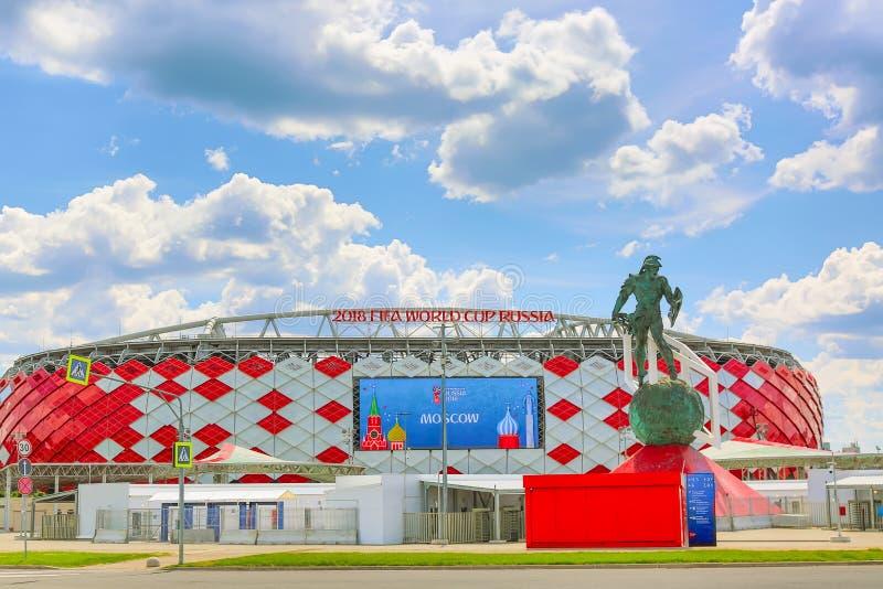 Μόσχα, Ρωσία - το Μάιο του 2018: Χώρος Otkrytie Εγχώριο στάδιο της ομάδας ποδοσφαίρου Spartak στοκ εικόνα