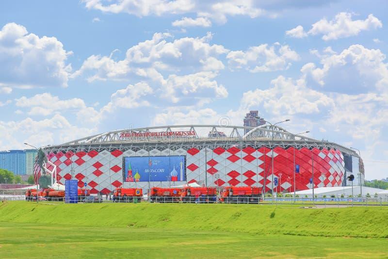 Μόσχα, Ρωσία - το Μάιο του 2018: Χώρος Otkrytie Εγχώριο στάδιο της ομάδας ποδοσφαίρου Spartak στοκ εικόνα με δικαίωμα ελεύθερης χρήσης