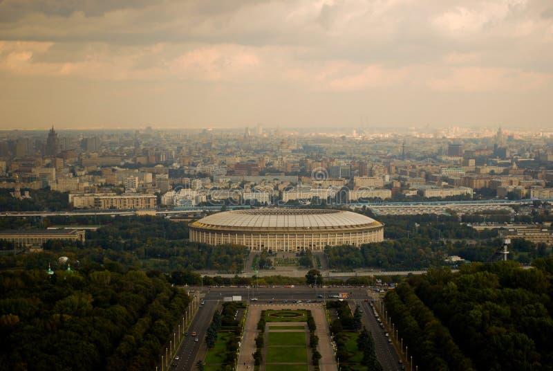 Μόσχα στην όψη στοκ εικόνα με δικαίωμα ελεύθερης χρήσης