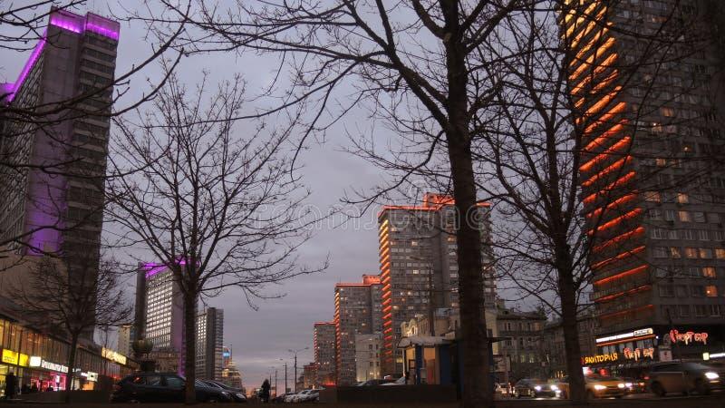 Μόσχα στη νύχτα στοκ εικόνες με δικαίωμα ελεύθερης χρήσης