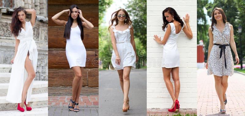 Μόδα οδών, όμορφες νέες γυναίκες στοκ εικόνες