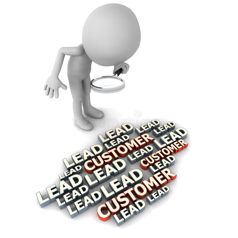 Μόλυβδοι και πελάτες διανυσματική απεικόνιση