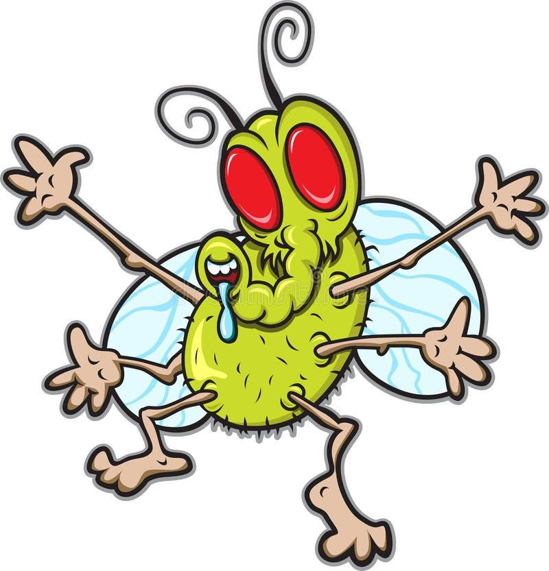 μύγα επίσης διανυσματική απεικόνιση