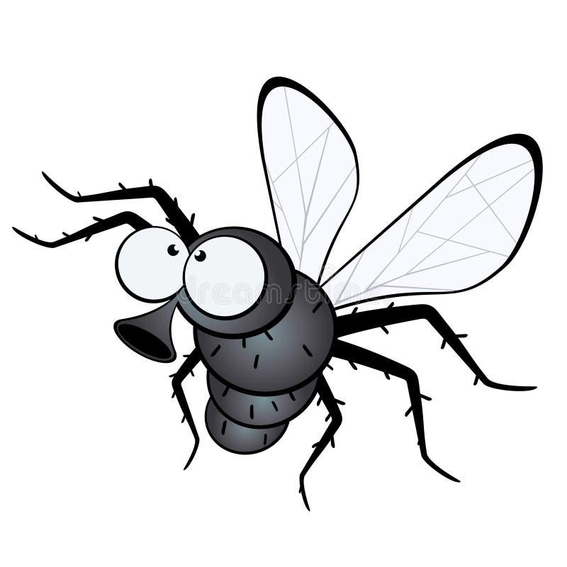 μύγα κινούμενων σχεδίων διανυσματική απεικόνιση