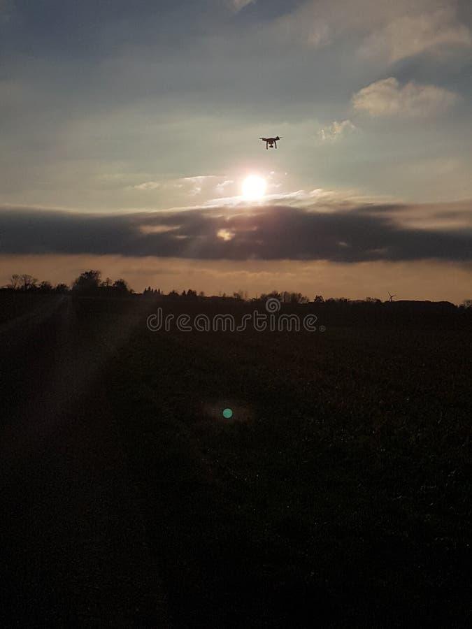 Μύγα Drohn στοκ φωτογραφία με δικαίωμα ελεύθερης χρήσης