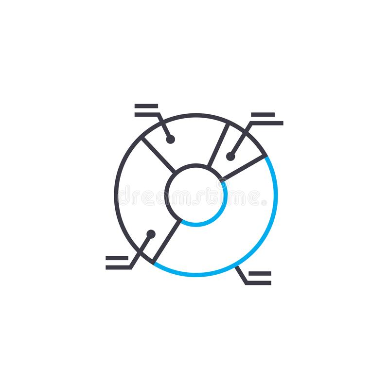 Μύθος του διανυσματικού λεπτού εικονιδίου κτυπήματος γραμμών διαγραμμάτων Μύθος της απεικόνισης περιλήψεων διαγραμμάτων, γραμμικό ελεύθερη απεικόνιση δικαιώματος