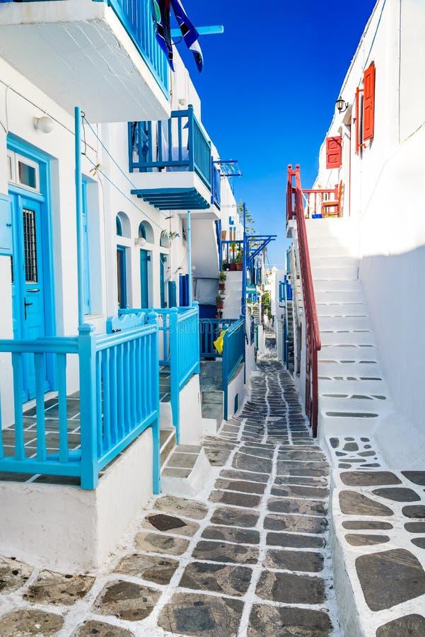 Μύκονος, ελληνικά νησιά, Ελλάδα στοκ εικόνα με δικαίωμα ελεύθερης χρήσης