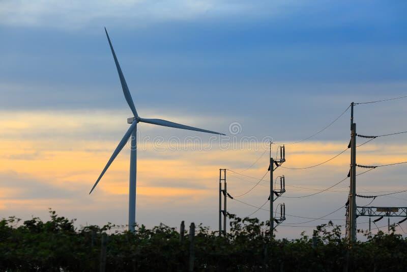 Μύλοι αιολικής ενέργειας, Ταϊλάνδη στοκ εικόνες με δικαίωμα ελεύθερης χρήσης