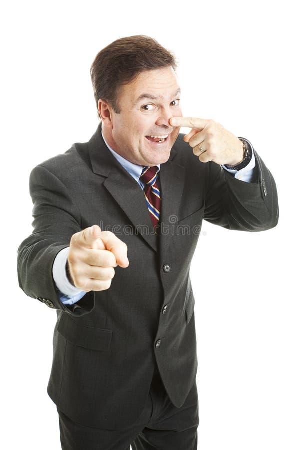μύτη επιχειρηματιών στοκ εικόνα με δικαίωμα ελεύθερης χρήσης