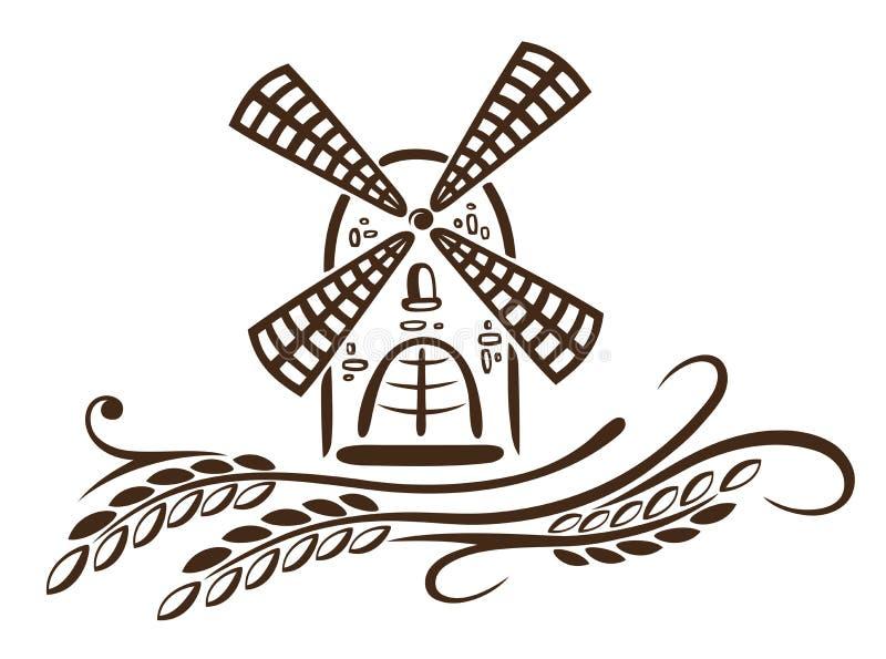 Μύλος, σιτάρι, αρτοποιείο ελεύθερη απεικόνιση δικαιώματος