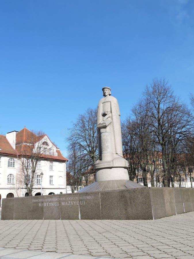 Μ Άγαλμα Mazvydas σε Klaipeda, Λιθουανία στοκ εικόνες