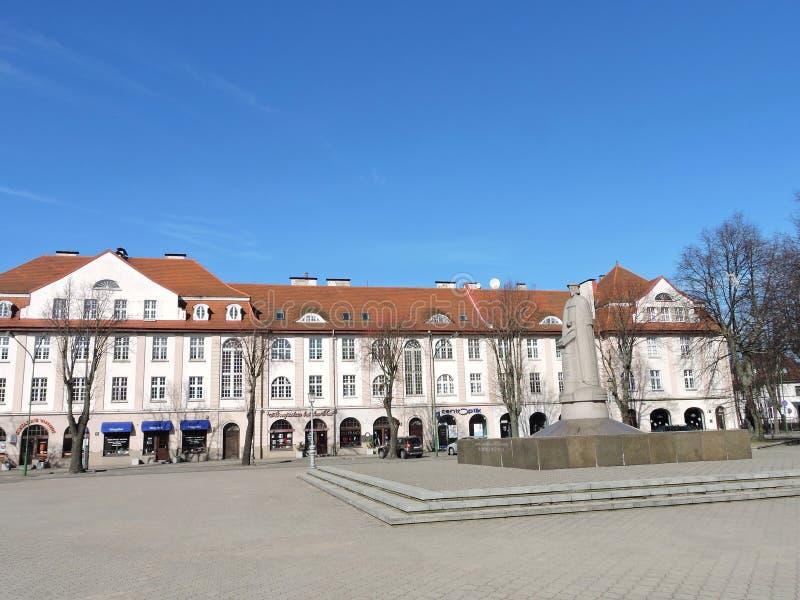 Μ Άγαλμα Mazvydas σε Klaipeda, Λιθουανία στοκ εικόνα με δικαίωμα ελεύθερης χρήσης