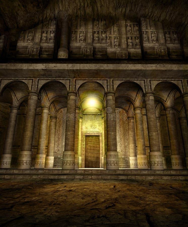 Νάνα σπηλιά ναών εισόδων σκηνικού φαντασίας απεικόνιση αποθεμάτων