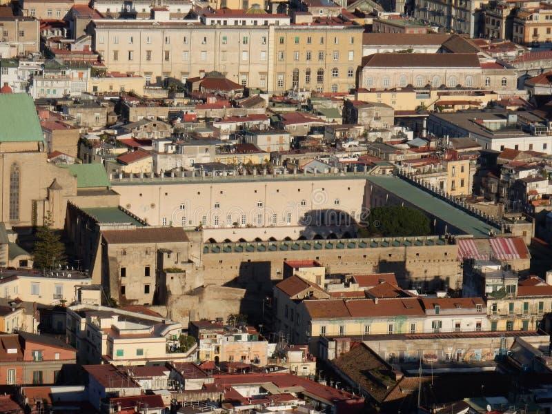 Νάπολη - μοναστήρι Santa Chiara από το SAN Martino στοκ φωτογραφία