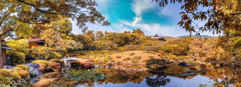 Νάρα, Ιαπωνία - περιοχή παγκόσμιων κληρονομιών της ΟΥΝΕΣΚΟ Κήπος Isuien από τη Mei στοκ εικόνες