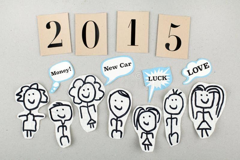2015 νέα έννοια έτους στοκ φωτογραφίες