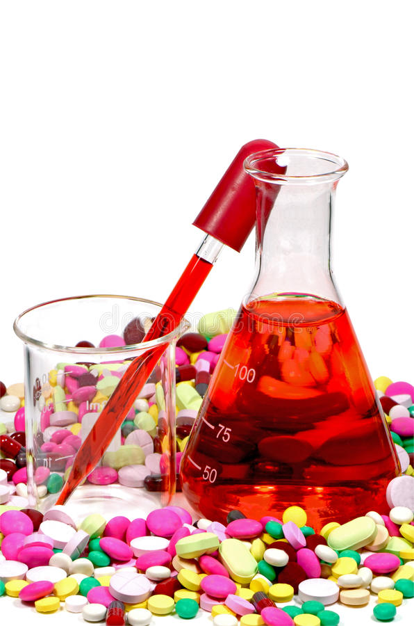 Νέα έννοια ανακαλύψεων φαρμάκων στοκ εικόνα με δικαίωμα ελεύθερης χρήσης