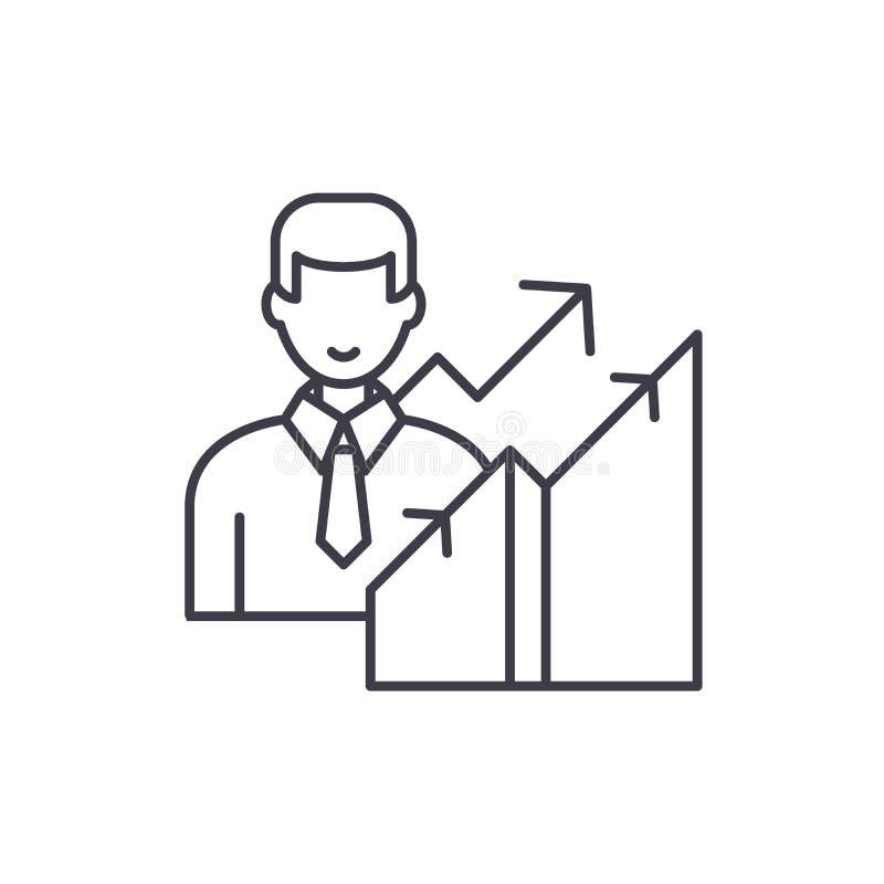 Νέα έννοια εικονιδίων γραμμών σταδιοδρομίας Νέα διανυσματική γραμμική απεικόνιση σταδιοδρομίας, σύμβολο, σημάδι ελεύθερη απεικόνιση δικαιώματος