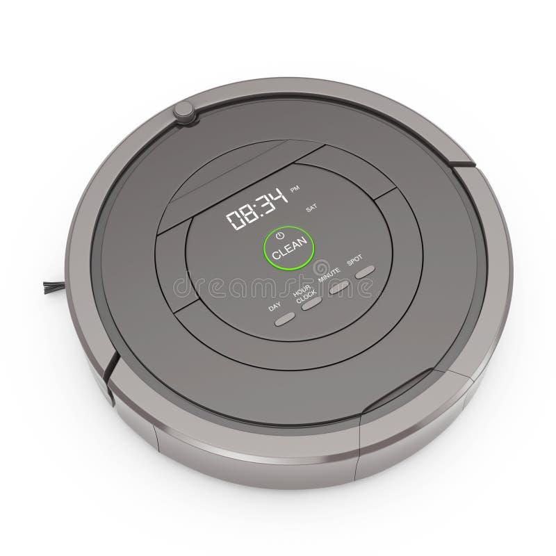 Νέα έννοια τεχνολογίας καθαρισμού Έξυπνη ρομποτική ηλεκτρική σκούπα 3 διανυσματική απεικόνιση