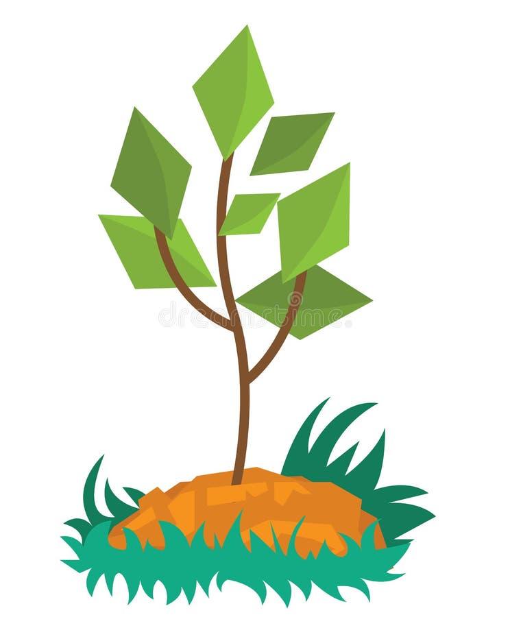 Νέα ανάπτυξη πράσινων εγκαταστάσεων στο χώμα ελεύθερη απεικόνιση δικαιώματος