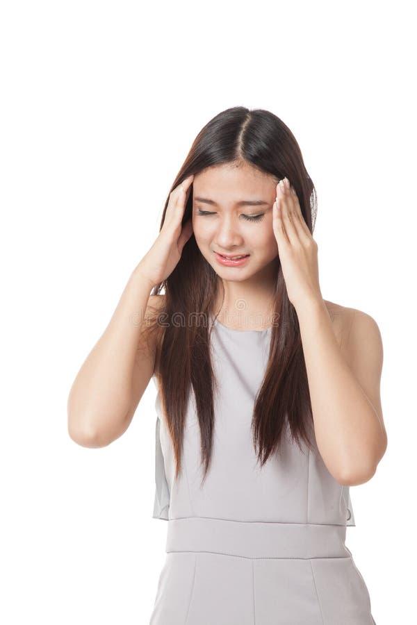 Download Νέα ασιατική γυναίκα που αρρωσταίνονται και πονοκέφαλος Στοκ Εικόνα - εικόνα από υγιής, θηλυκό: 62723857