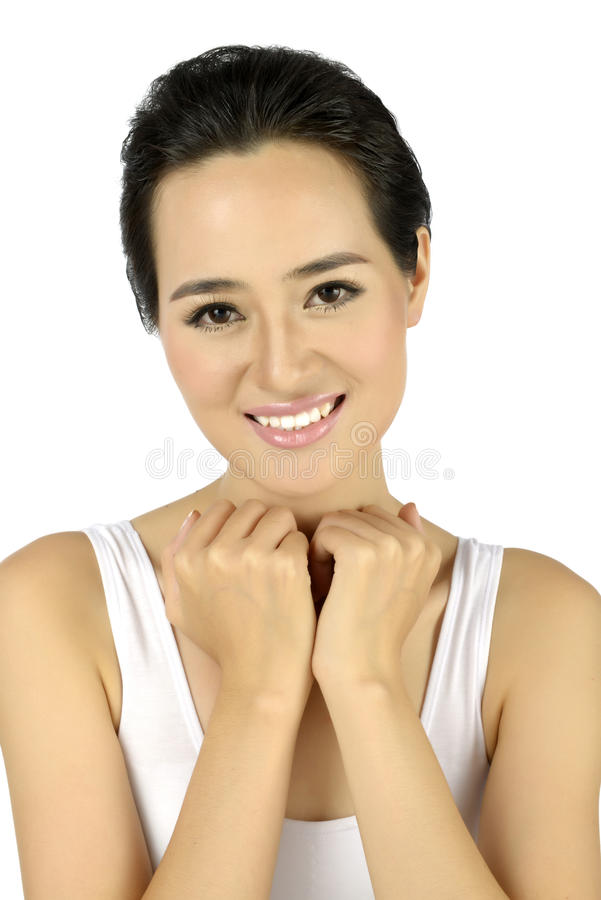 Νέα ασιατική όμορφη γυναίκα στοκ φωτογραφία με δικαίωμα ελεύθερης χρήσης