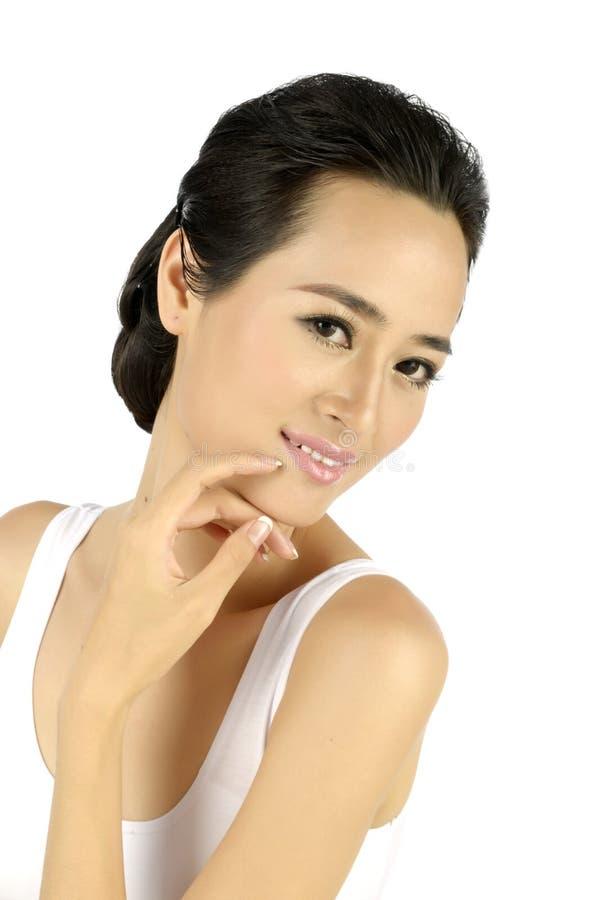 Νέα ασιατική όμορφη γυναίκα στοκ φωτογραφίες