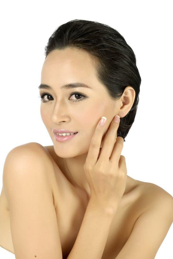 Νέα ασιατική όμορφη γυναίκα στοκ εικόνες