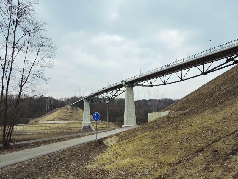 Νέα γέφυρα για πεζούς, Λιθουανία στοκ φωτογραφία με δικαίωμα ελεύθερης χρήσης
