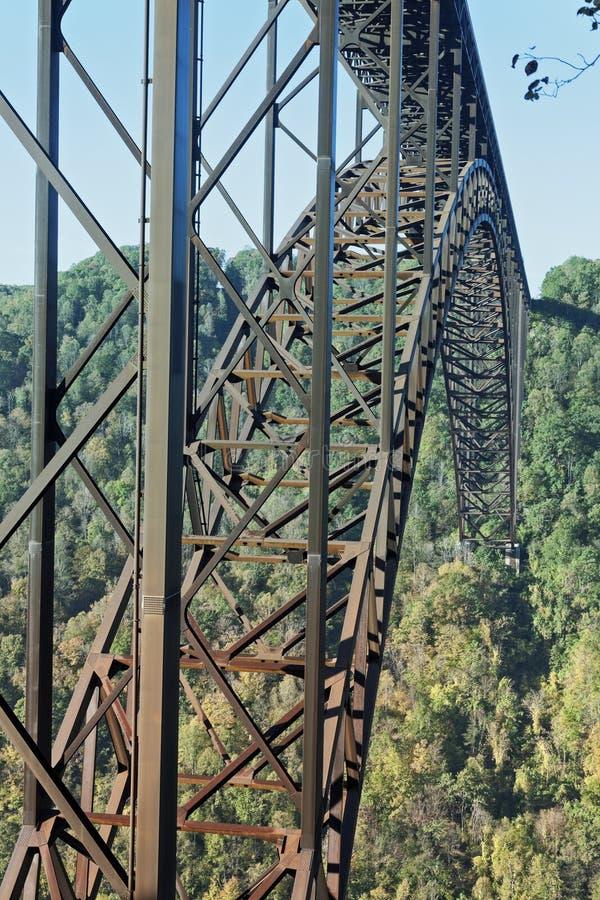 Νέα γέφυρα φαραγγιών ποταμών στοκ φωτογραφίες
