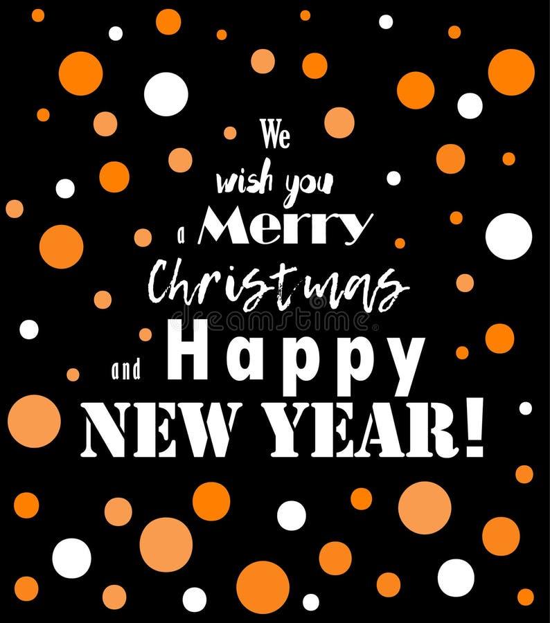 Νέα γράφοντας ευχετήρια κάρτα 2018 έτους διανυσματική απεικόνιση
