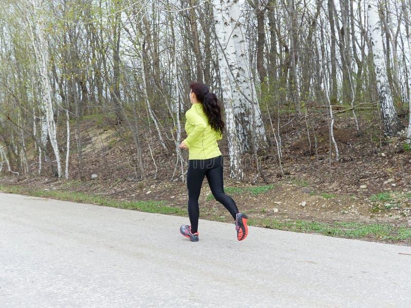 Νέα γυναίκα που τρέχει στη φύση στοκ φωτογραφία με δικαίωμα ελεύθερης χρήσης