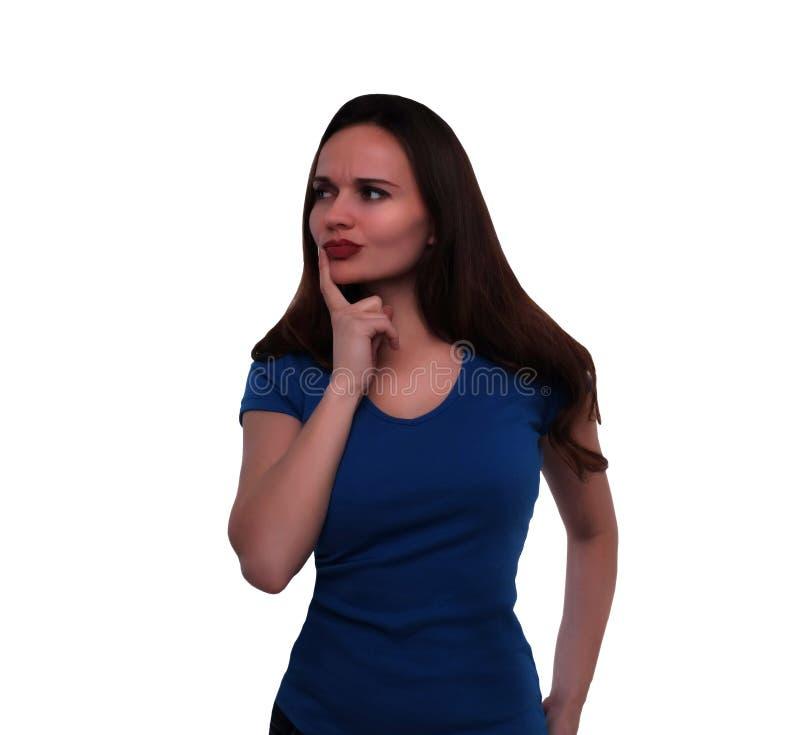 Νέα γυναίκα στην αμφιβολία στοκ εικόνα με δικαίωμα ελεύθερης χρήσης
