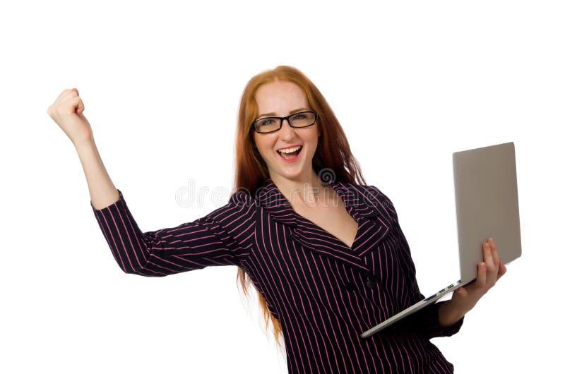 Download Νέα γυναίκα στην επιχειρησιακή έννοια Στοκ Εικόνα - εικόνα από υπολογιστής, αρκετά: 62709007