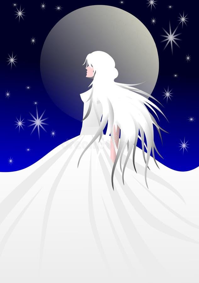 Νέα γυναίκα της Νίκαιας με την άσπρη τρίχα διανυσματική απεικόνιση