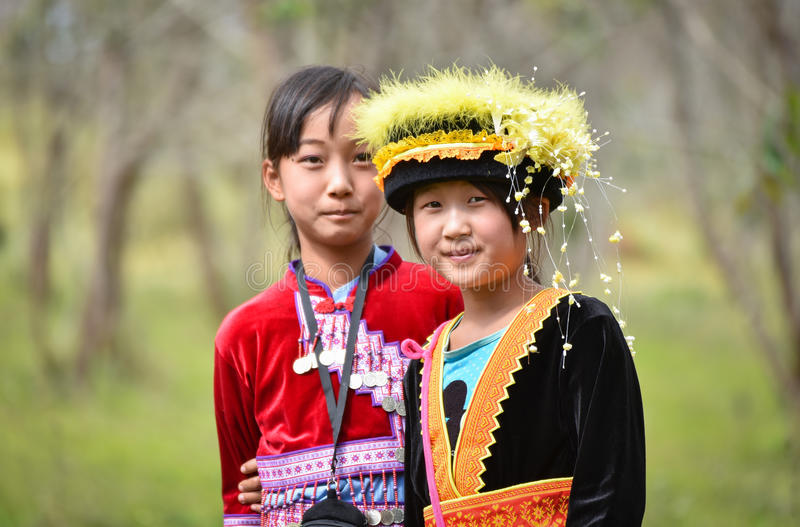 Νέα γυναίκα φυλών λόφων Hmong στοκ εικόνες με δικαίωμα ελεύθερης χρήσης
