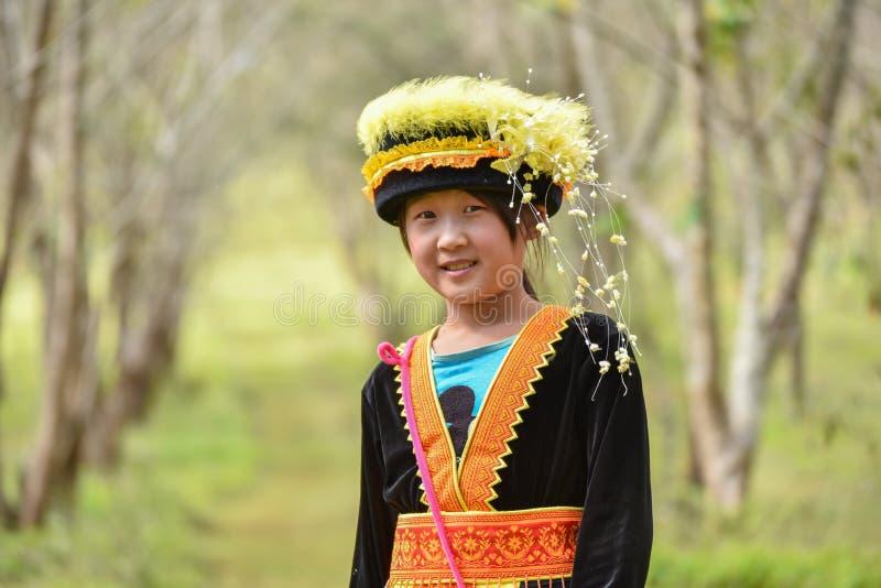 Νέα γυναίκα φυλών λόφων Hmong στοκ φωτογραφία