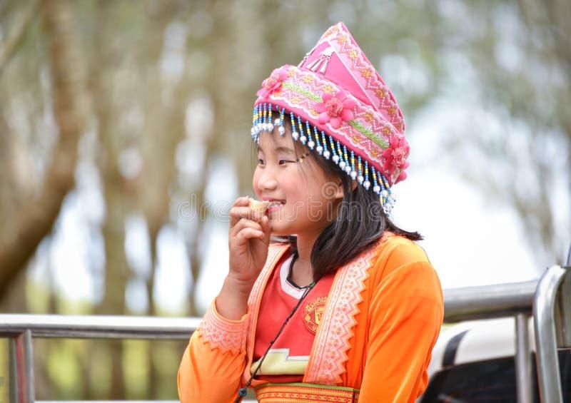 Νέα γυναίκα φυλών λόφων Hmong στοκ εικόνες