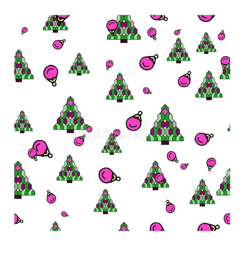 Νέα διανυσματική απεικόνιση σχεδίων Χριστουγέννων έτους απεικόνιση αποθεμάτων