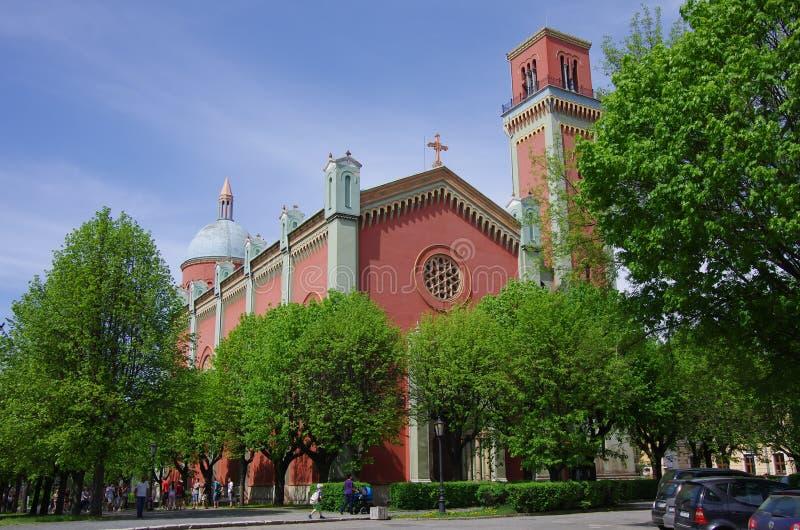 Νέα εβαγγελική εκκλησία σε Kezmarok, Σλοβακία στοκ εικόνες με δικαίωμα ελεύθερης χρήσης